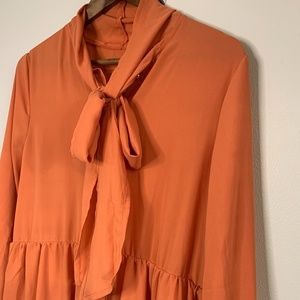 *NWOT* Long Sleeve Tiered Dress with Bow